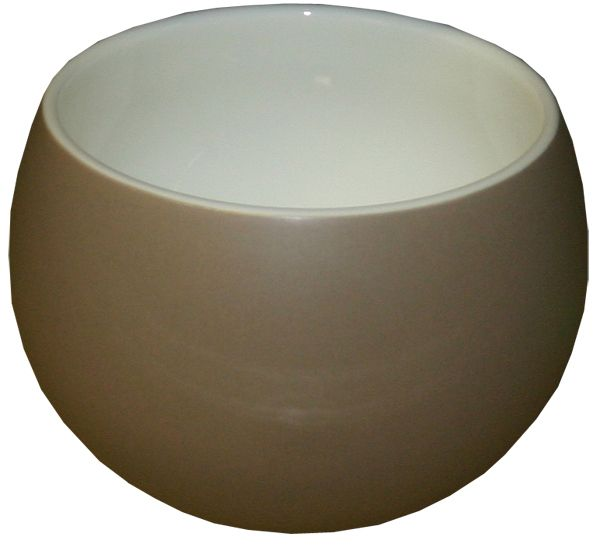 Royal White Retro Bowl 380ml taupe mat