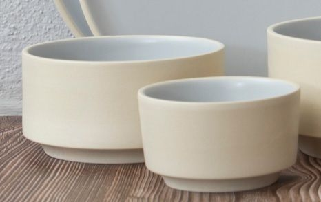 Atlas beige grey bowl Ø120xH60mm 400ml